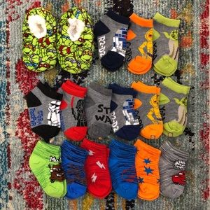 Other - Assorted Baby Boy Licensed Socks & Slippers